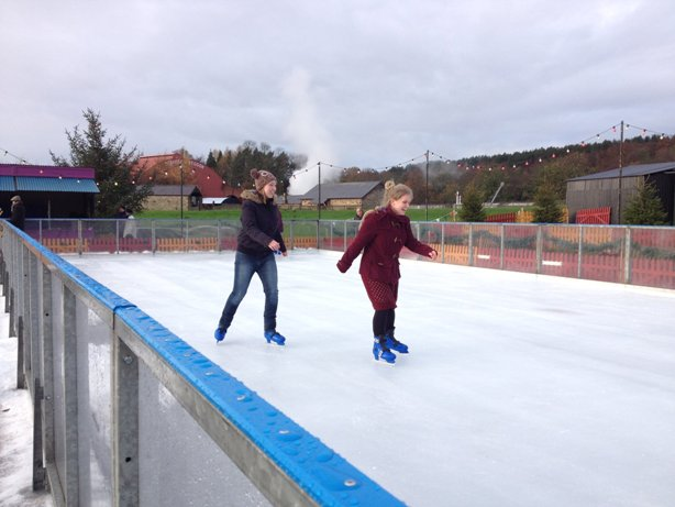 Ice Skating At Beamish Museum County Durham DH9 0RG 2017