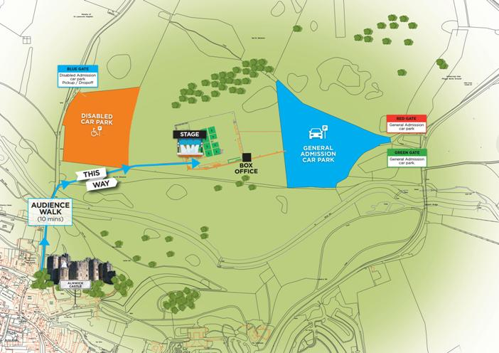 Alnwick Castle Concert Map