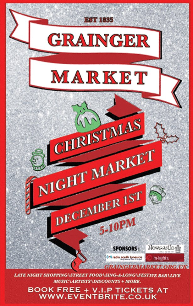 Grainger Christmas Night Market Newcastle upon Tyne NE1 5AE