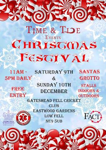 Gateshead Fell Cricket Club Christmas Festival Flyer 2017