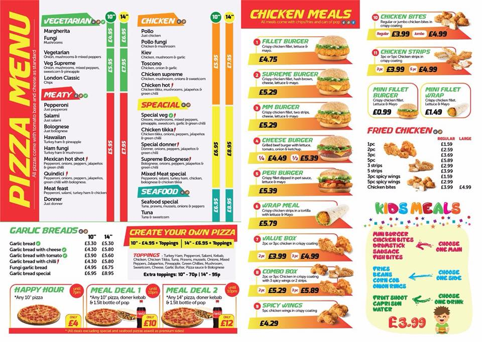 Hot N Tasty 327 Laygate South Shields NE33 4JB Menu 2