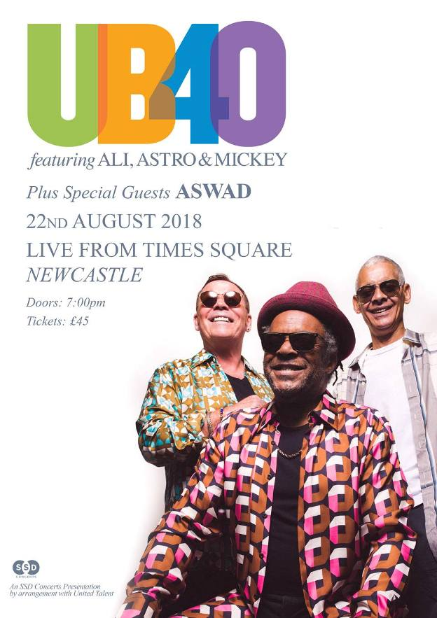 UB40 Live From Times Square Newcastle upon Tyne NE1 4EP