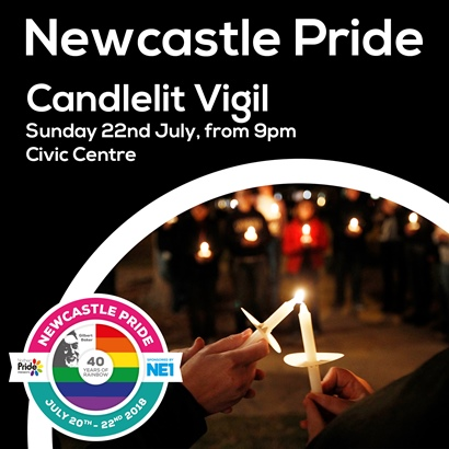 Newcastle Pride Candlelit Vigil July 2018