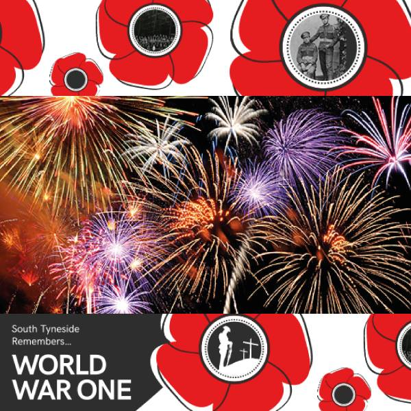 South Tyneside Remembers World War One Firework Display