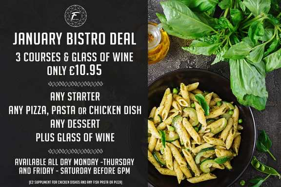 Florence Bar And Bistro Special Offer January 2019