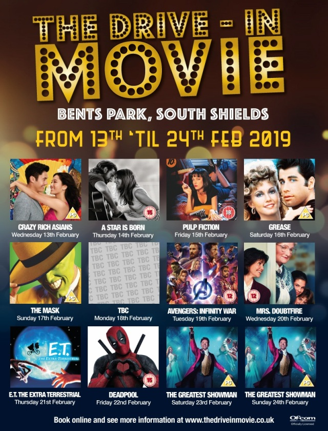 Bents Park South Shields Drive In Cinema Spring 2019