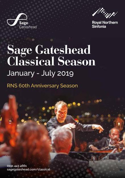 Sage Gateshead Classical Season January To June 2019
