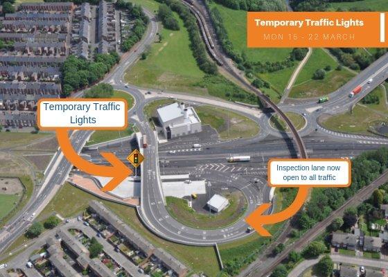 Tyne Tunnel Temporary Traffic Lights 1