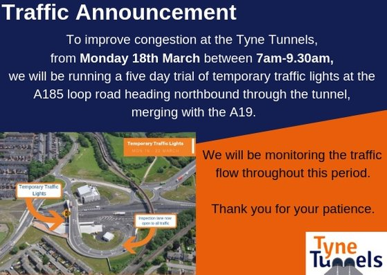 Tyne Tunnel Temporary Traffic Lights 2