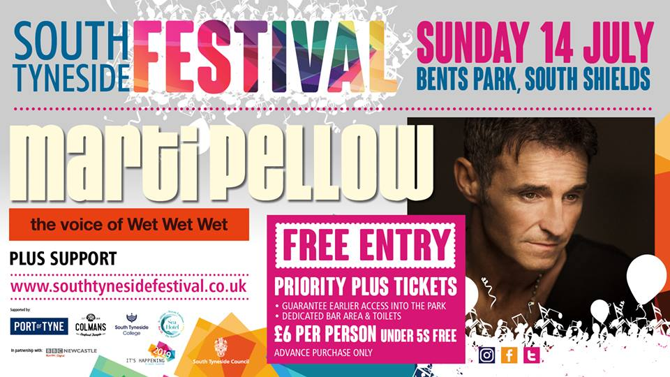 Free Marti Pellow Concert On Sunday 14th July 2019