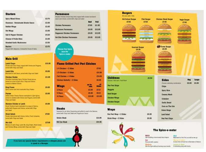 Oh My Grill 166-170 Ocean Road South Shields NE33 2JQ Menu