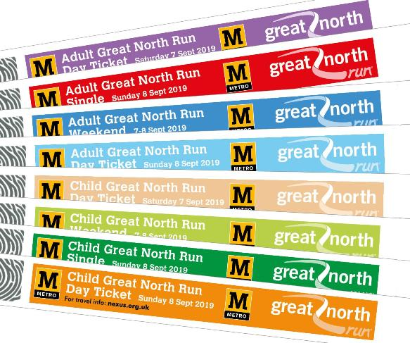 Great North Run 2019 Travel Wristbands