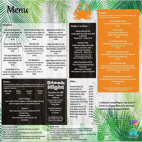 The Sanddancer Pub Sea Road South Shields NE33 2JH Menu 1