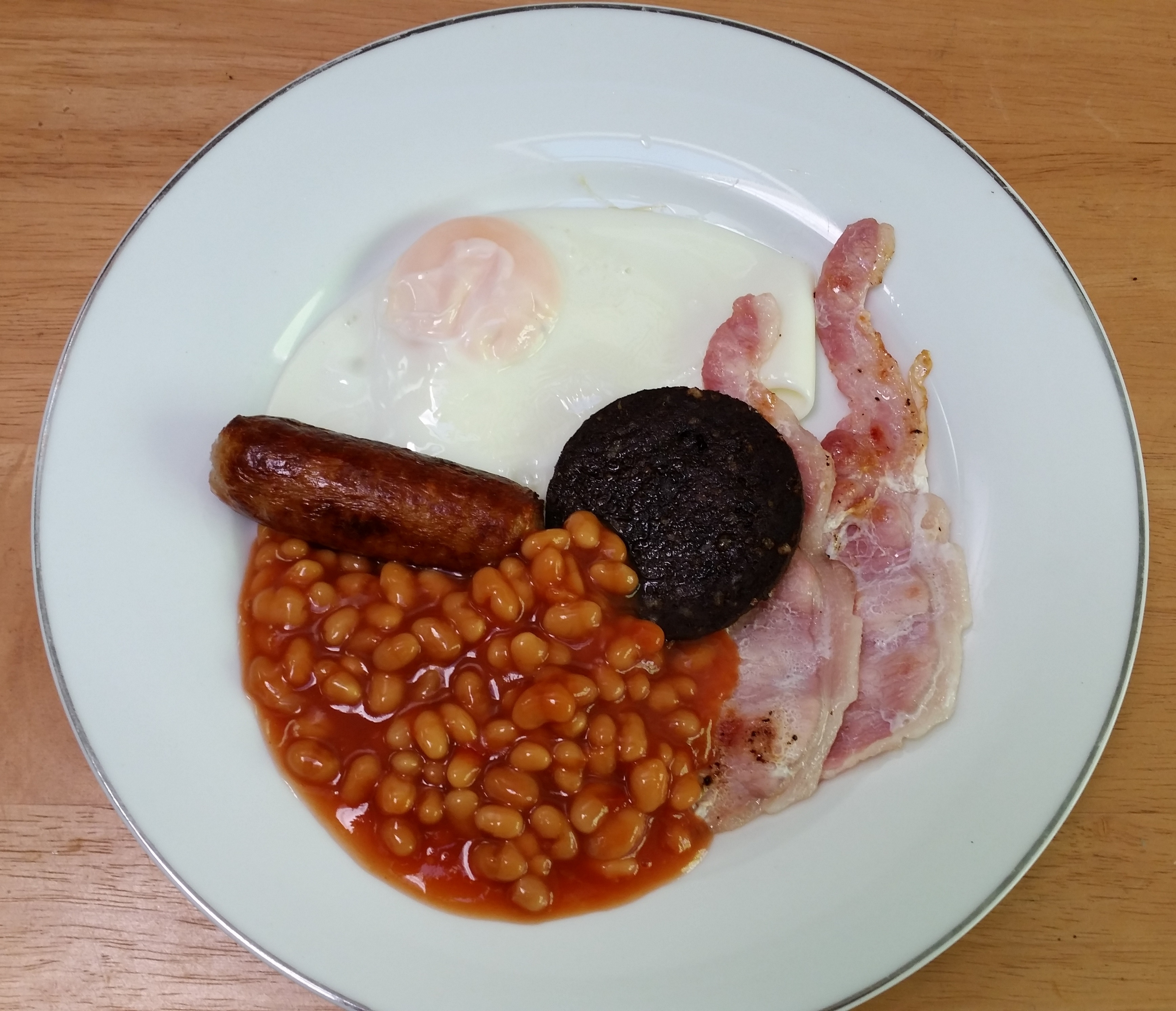 Fried Egg Black Pudding Grilled Bacon Baked Beans Sausage Large