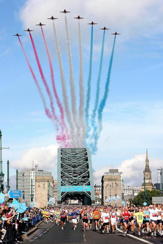 Great North Run Red Arrows Newcastle upon Tyne