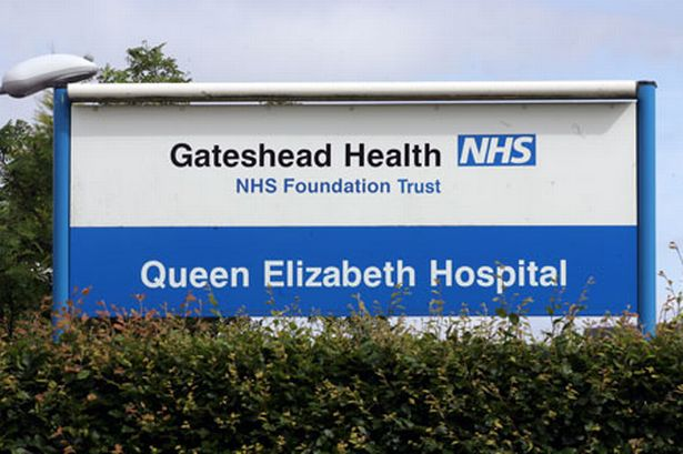 NHS Queen Elizabeth Hospital Gateshead NE9 6SX Exterior Sign
