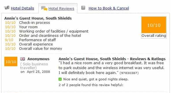 Annie's Guest House Reviews 2008