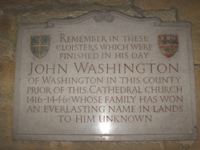 John Washington Plaque